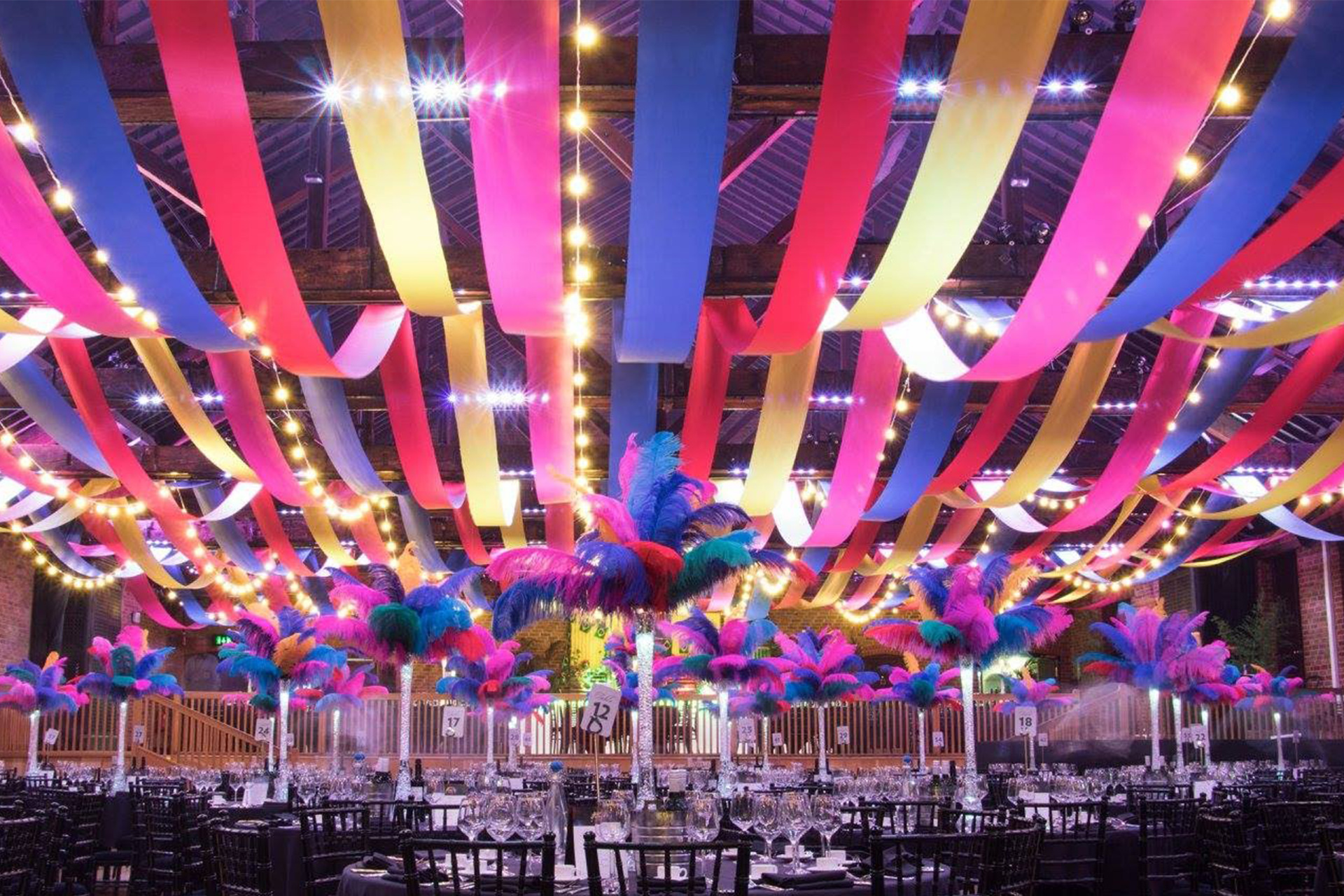 wedding ceiling streamers
