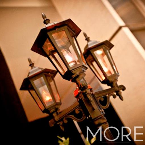 Black Street Lamp wedding Hire