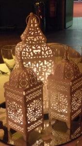 Cluster of 3 tea light lanterns