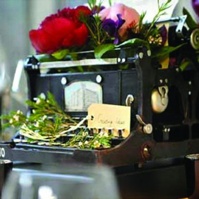typewriter hire wedding decor