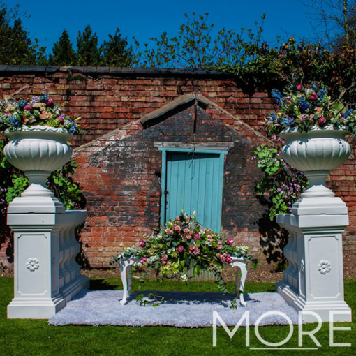 White urn wedding hire