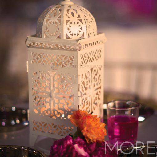 White Moroccan Dome Small Lantern hire